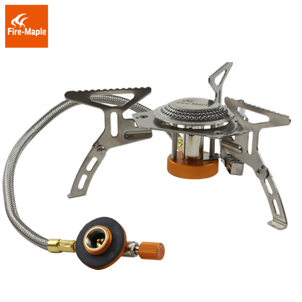 Fire Maple Portable Split Burner 2600W Outdoor Water Coffee Tea Meal Cooking Gas Stove Camping Equipment FMS-105 fire maple blade 2 upgrade split gas stove ultra light titanium alloy outdoor cooker gas burner camping equipment 135g fms 117h