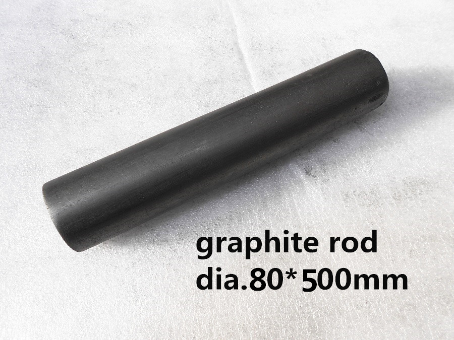 Dia.80*500mm graphite cylinder carbon round for steam valves Enrique /conductive graphite rod цена