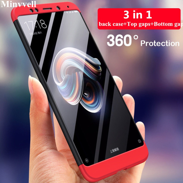 360 Degree Phone Cases For Xiaomi Mi 8 Redmi 4X 5A Note 5A Shockproof Full Cover Case For Xiaomi Redmi Note 5A 4X 4 Phone Shell