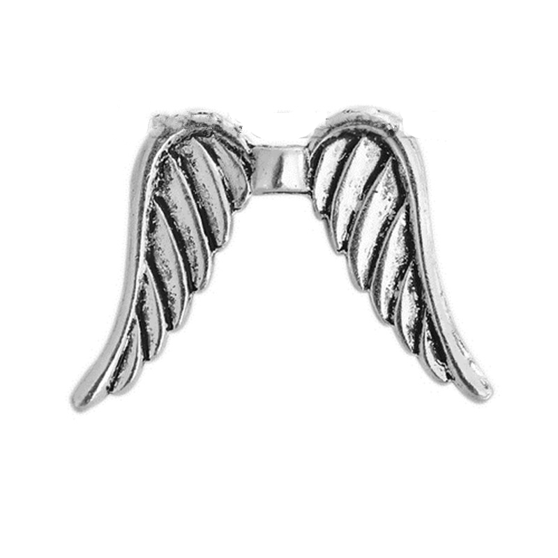 DoreenBeads цинковый сплав на основе Spacer крыло старинное серебро DIY Выводы 32 мм (2/8 «) x 24 мм (1 «), отверстие: Приблизительно 2,2 мм, 2 шт.