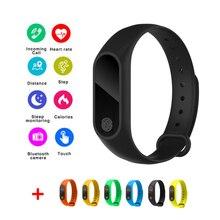 2019 Newest Smart Band M2 Waterproof Heart Rate Monitor Bluetooth Bracelet Sleep Fitness Tracker Pedometer Wristband
