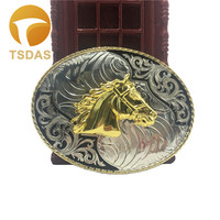 Zinc Alloy Animal Series Horse Belt Buckle For Mens Silver Oval Belt Buckle Head 1pc Drop Shipping