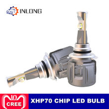 INLONG H7 Car LED Headlight Bulb H4 H11 H8 9005 9006 HB4 D4S D2S D1S Original XHP70 Chips 15600LM Auto Headlamp Fog Lights 6000K(China)
