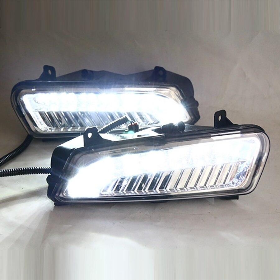 Автомобиль DRL Комплект для Фольксваген Поло 2011~2013 светодиодные дневные ходовые свет супер яркий горячая распродажа