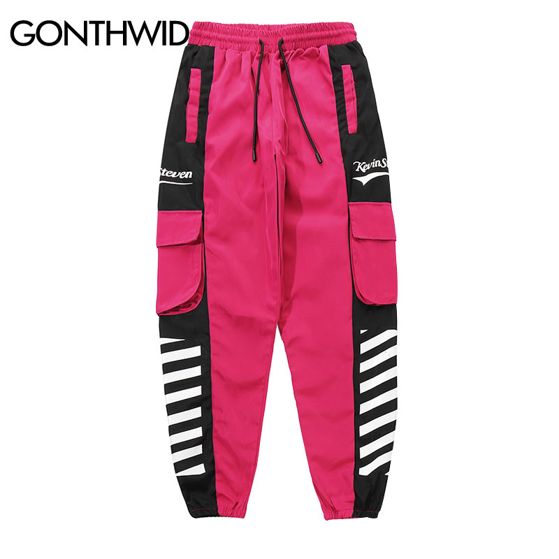 GONTHWID Hip Hop Pockets Cargo Harem Joggers Pants Streetwear Men 2019 Harajuku Casual Urban Baggy Pants Male Fashion Trousers