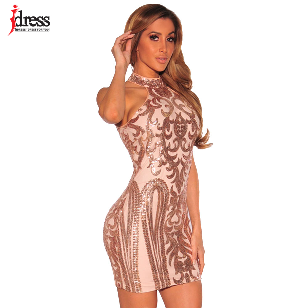 Gold dress bodycon elegant
