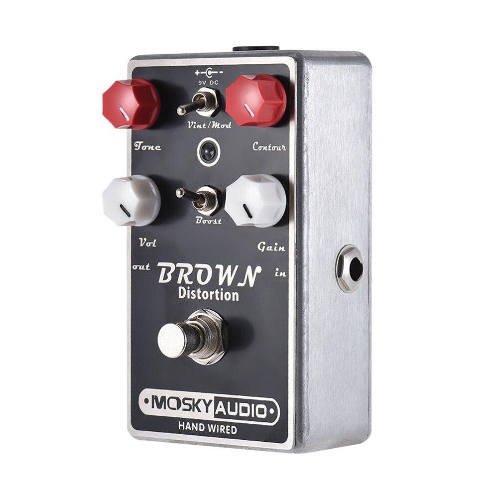 Mosky BRUN DISTORSION Guitare Pédale D'effet Mini Overdrive Pédale D'effet Guitare Pièces & Accessoires