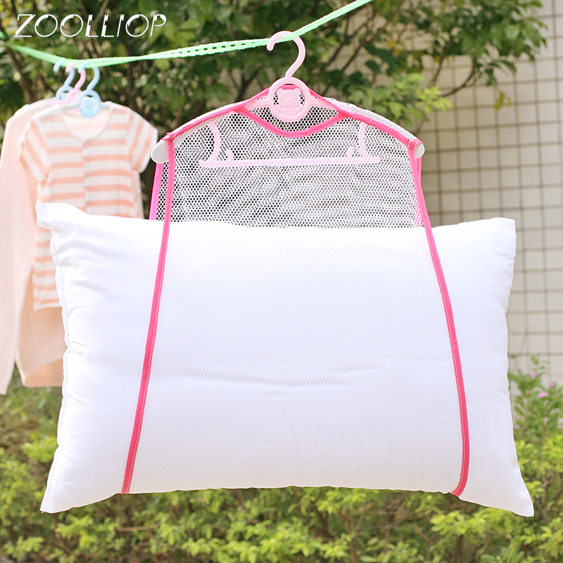 Drying Net Windproof Drying Rack Fine Mesh Print Multifunctional Pillow Toys Sun Underwear Drying Pillow Net Bag Hanging Rack