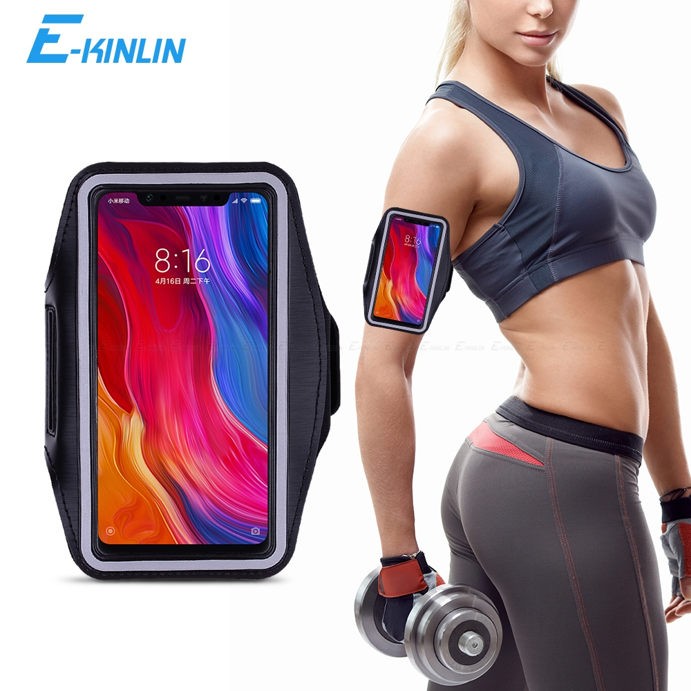 Sport Running Gym Case Arm Band For Xiaomi A3 A2 Lite Mi 9T 9 8 SE Max Mix 3 2S 2 Redmi Note 7 5 6A 6 Pro AI Phone Bag Cover