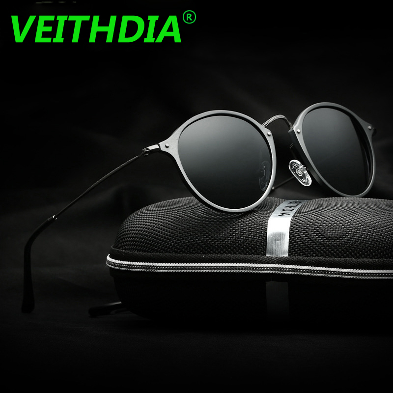 ff7924a017ca VEITHDIA Brand Logo Fashion Unisex Sun Glasses Polarized Coating Mirror  Driving Sunglasses Round Male Eyewear For Men Women