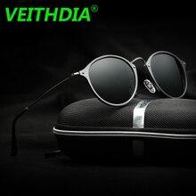 VEITHDIA Brand Logo Fashion Unisex Sun Glasses Polarized Coating Mirror Driving Sunglasses Round Male Eyewear For Men Women