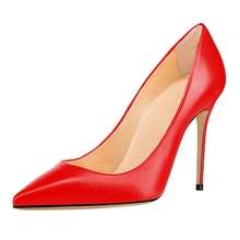 Big Size Fashion Super Thin High Heels Pumps For Women 2018 New Solid Concise Comfortable Office Shoes 10cm C018B