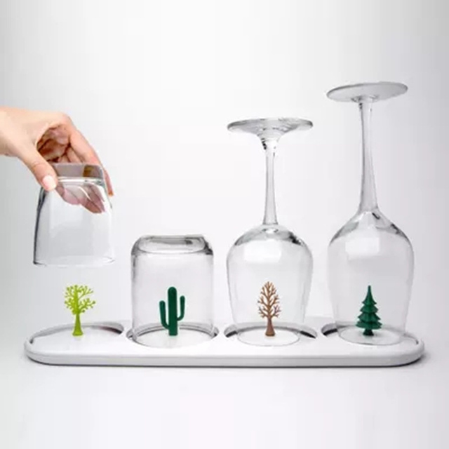Creativity Glass Cup draining rack Wine glasses Cup Stand Home party Decor Environmental protection Home Kitchen Suppl