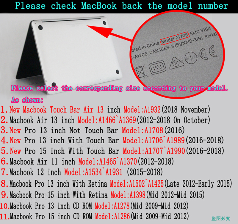 Image 5 - New color printing  notebook case for Macbook Air 11 13 Pro Retina 12 13 15 inch Colors Touch BarNew Pro 13 15 New Air 13-in Laptop Bags & Cases from Computer & Office