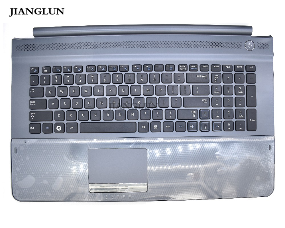 JIANGLUN For Samsung RC710 Palmrest with touchpad with US Layout KeyboardJIANGLUN For Samsung RC710 Palmrest with touchpad with US Layout Keyboard