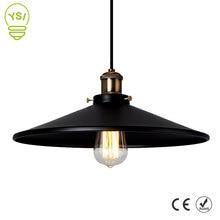 בציר תעשייתי תליון אור רטרו תקרת מנורת נורדי ברזל אהיל לופט אדיסון מנורת חדר אוכל מנורת מסעדה בר
