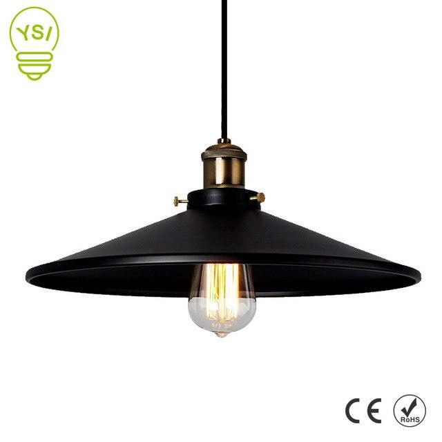 Винтажный промышленный подвесной светильник в стиле ретро, потолочный светильник, скандинавский Железный Абажур, лампа Эдисона для столовой, бара