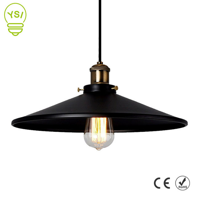 Vintage Industrial Pendant Light Retro Ceiling Lamp Nordic Iron Lampshade Loft Edison Lamp for Dining Room Lamp Restaurant Bar