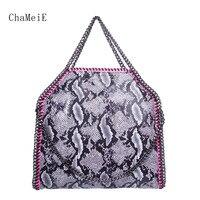 Newest Women 3 Chains Handbag Famous Brand Designer Classic Style Shoulder Bag PVC Large Female Totes