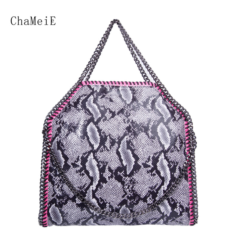 Newest Women 3 Chains Handbag Famous Brand Designer Classic Style Shoulder Bag PVC Large Female Totes Bolsa Sac 37cm