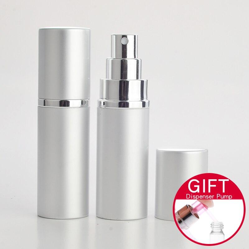 30MM*130MM 25ML Portable Aluminum Perfume Bottle With Atomizer Empty Glass Parfum Case For Traveler