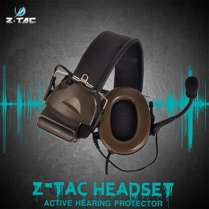 Z Tactical Communication Headset Comtac II Peltor Headphones No Noise Reduction Function Z151