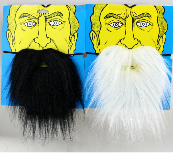 Tools Disciplined 2pcs/lot Fake Facial Hair Beard Mustache Moustache Facial Hair Costume Fancy Dress Party
