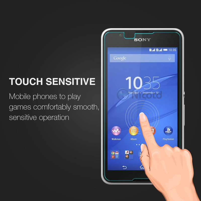 0.26MM 9H Screen Protector Explosion-Proof On Phone Tempered Glass Film For Sony Xperia E4 E2105 E2114 E2115 E2124 dual 5.0 inch (2)