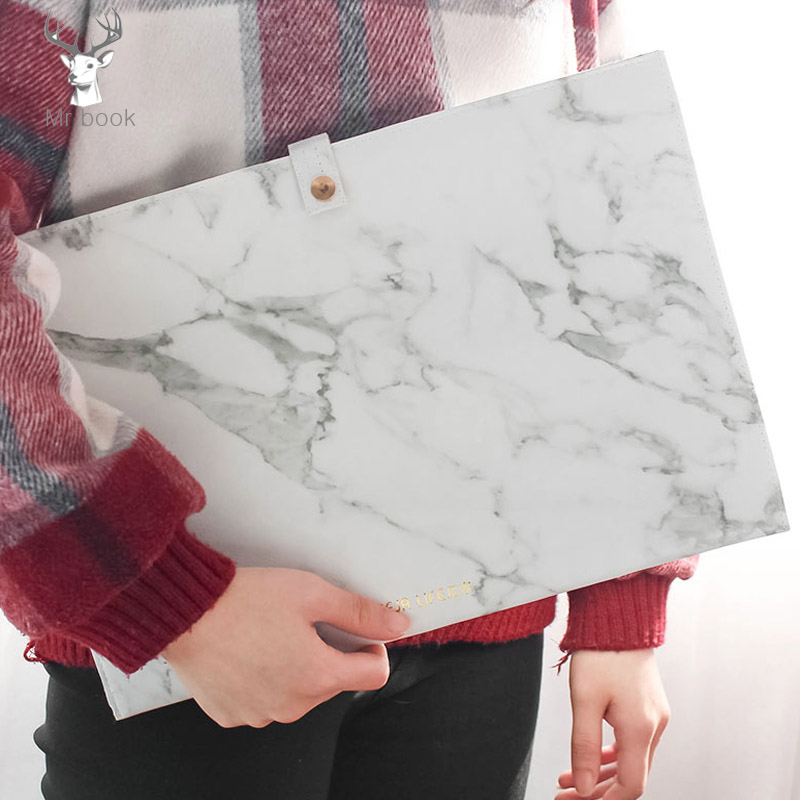 Portable Marble File Folder A4 Document Bag Pu Leather Waterproof Folder Paper Organizer Case Expanding Files Office Stationery deli mini expanding file high capacity a4 folder document office file folders portable paper bag organizer school office supply