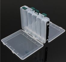 Double Sided 14/10 Compartments, KAWA Fishing Box, High Strength Transparent Visible Plastic  Box with Drain Hole, Free Shipping