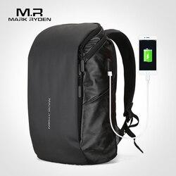 9d0ba4536 Mark Ryden Homem Mochila Grande Capacidade de Recarga USB Fit 15.6 polegada  Laptop Macho Saco De