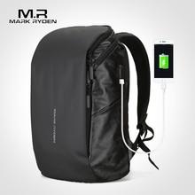 Mark Ryden USB Recharging Man Backpack Large Capacity Fit 15.6inch Laptop Male Bag Boy Travel Mochila