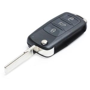 Image 4 - مفتاح Keyecu للاستبدال عن بُعد بدون مفتاح ، مفتاح السيارة عن بعد ، 3 أزرار 315 ميجاهرتز/433 ميجاهرتز ID46 for VW Volkswagen طوارق 2002 2010