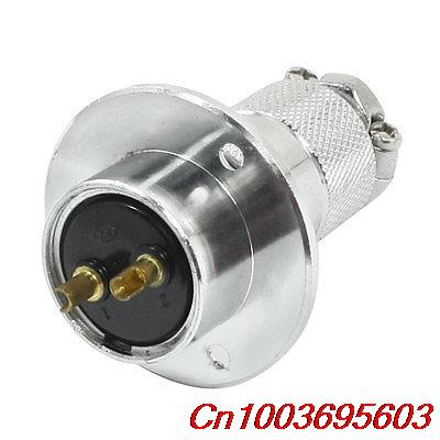Waterproof Aviation Plug Pannel Connector Adapter 2 Pin P25-2 Core electric cable aviation 4p 25mm pannel connector plug adapter ac 250v 7a