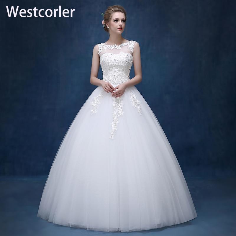2017 नई फीता एजवेल्स व्हाइट - शादी के कपड़े