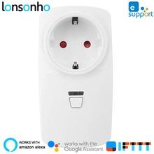 Lonsonho 10A Smart Plug Wifi Smart Socket US EU UK AU France Australia Plug Works With Alexa Google Home Mini IFTTT eWeLink