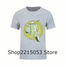 Motorcycle Print Men's Classic Vespa T Shirt O Neck Male KTM T-Shirt piaggio gts accessories Short Sleeve Tee tshirt Clothing(China)