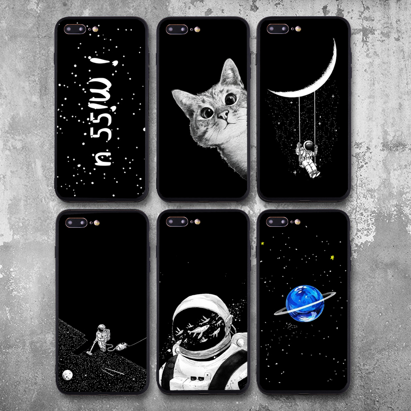 Shop For Cheap Yinuoda Planet Simple Pattern Space Eclipse Of Moon Phone Case Cover For Samsung Galaxy S9 S7 S6 Edge Plus S5 S9 S8 Plus Note 9 Bright In Colour Phone Bags & Cases Half-wrapped Case