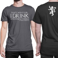 Game Of Thrones Tyrion T Shirt That S What I Do Men S 100 Cotton Short