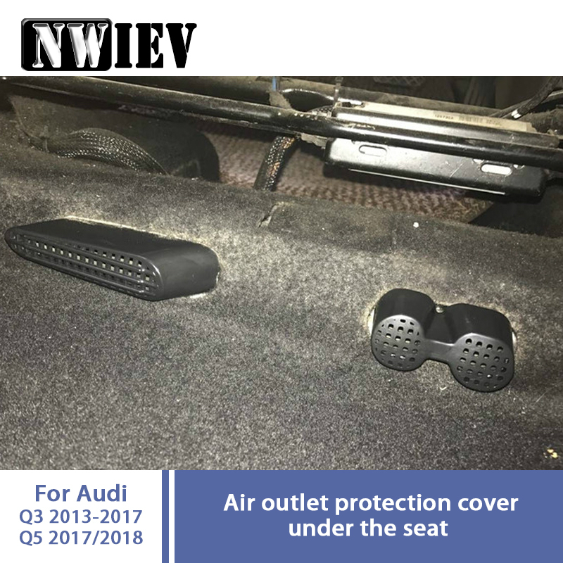 Nwiev 1set Car Under Seat Air Conditioner Air Outlet Duct