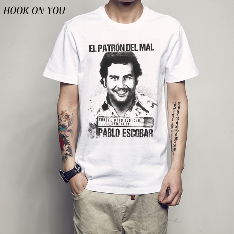 Pablo Escobar   T     Shirt   Colombian Drug Weed Mafia Scareface Luciano Money Capon   T  -  Shirt   tee 2018 new arrive summer