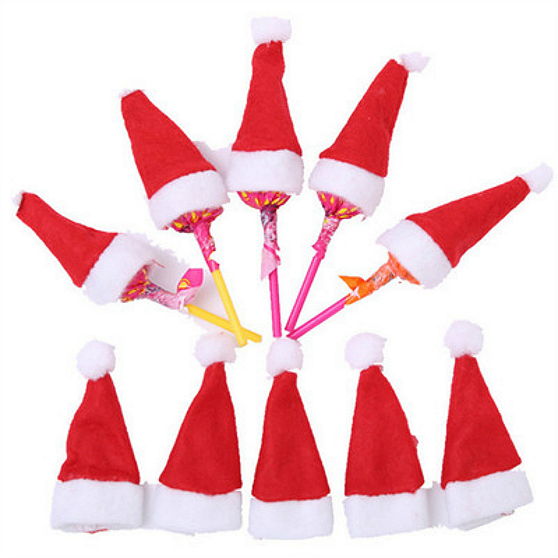 Classic toys Toy Mini Candy Finger Christmas Hat Action Figure Funny Gadgets for Kids Toys Beauty Gift Joke