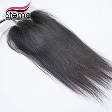 3 Parting Peruvian Straight Lace Closure 3 Part Closure Straight Peruvian  Not Bleached knots Peruvian Straight closure