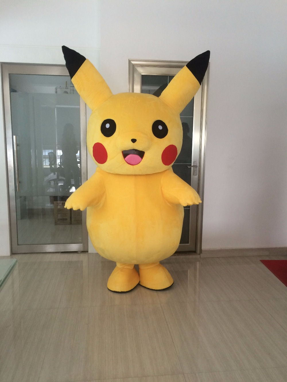 Brand Pikachu Adult Mascot Costumes Dress Party anime Go Cosplay Game Fancy A+