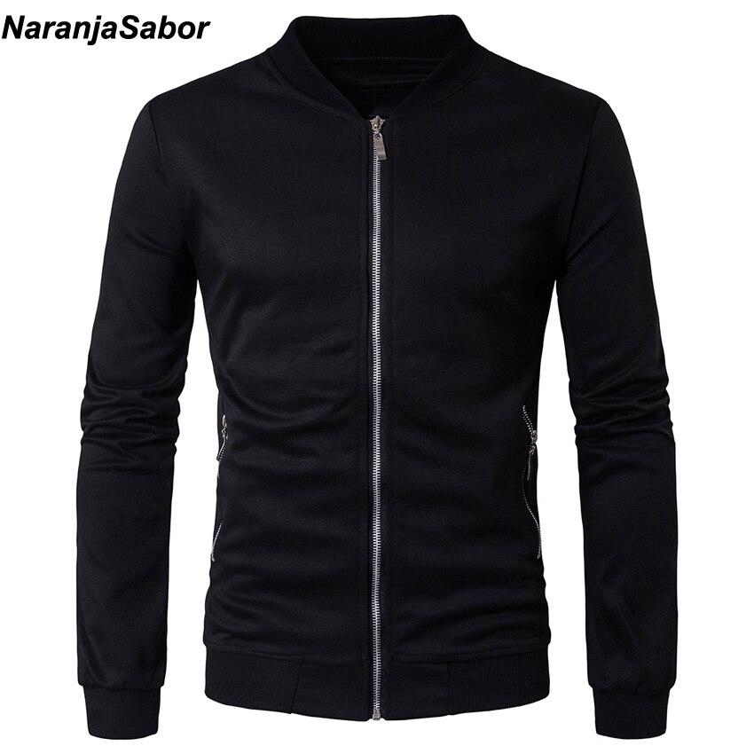 NaranjaSabor 2019 Spring Autumn Men's Jackets Casual Hoodies Mens Coats Sweatshirts Male Tracksuit Jacket Mens Brand Clothing