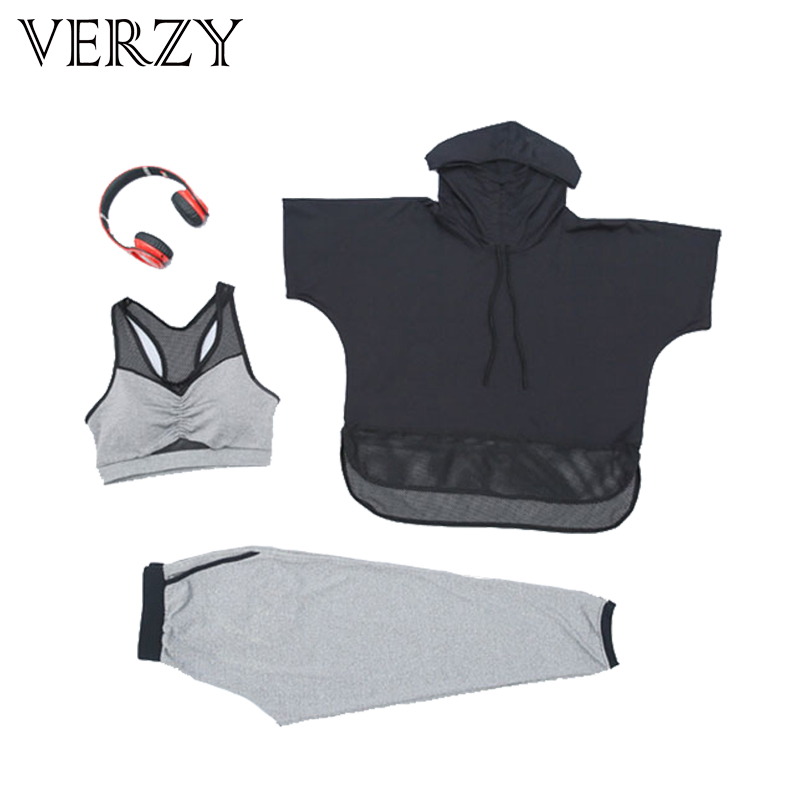 2017 Sale Yoga Set 3 Colors Mesh Sport Suit Women Fitness Jogging Suit Yoga Pants Breathable Exercise Leggings Outdoor Plus Size - 6