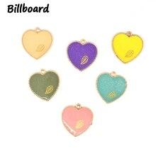 Hot Glitter Golden Heart Enamel charms for DIY jewelry making Zinc Trend Love Earring Pendants Wholesale Lots Bulk  10pcs/bag