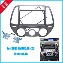 Free shipping-Car refitting DVD frame,DVD panel,Dash Kit,Fascia,Radio Frame,Audio frame for 2012 HYUNDAI i-20, 2DIN (Manual AC)
