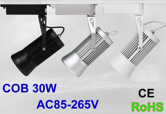 LED piste lumière 30 W COB 110 V 120 V 220 V 4000 K Piste rail Spot led lumières pour magasin de vêtements éclairage Industriel
