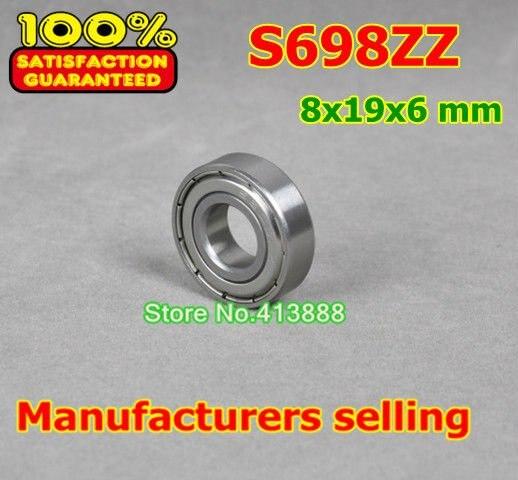 Высокое качество нержавеющая сталь подшипника SS698ZZ S698-2Z 619/8 R-1980 698 S698 Z ZZ S698Z S698ZZ 8*19*6 мм 440C материал